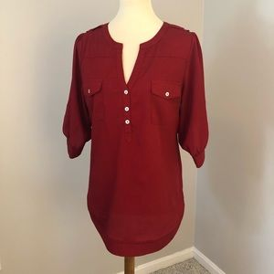 41 Hawthorn red blouse